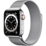 Apple Watch Series 6 (GPS + Cellular, 40mm, Silver Stainless Steel, Silver Milanese Loop)