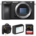 Sony Alpha a6500 Mirrorless Digital Camera Body with Free Accessory Kit