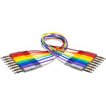 """Hosa Technology Stereo TRS Patchbay 1/4"""" Phone to 1/4"""" Phone Cable - 3' (set of 8)"""