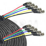 Canare 5-BNC Male to 5-BNC Male Cable - 25 ft