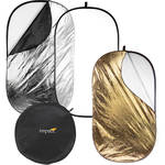 """Impact 5-in-1 Collapsible Oval Reflector - 42x72"""" (1x1.8 m)"""
