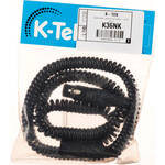K-Tek K36NK - XLR Male to Low-Profile Right-Angle XLR Female Coiled Cable