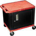 """H. Wilson 24.5"""" Tuffy Cart with Cabinet and Electrical Assembly (Red)"""