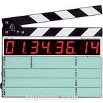 Denecke TS-C Compact Time Code Slate - Black and White Clapper, EL Backlit