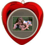 """Tricod DigiFrame 1.1"""" Heart-Shaped Mini Digital Picture Frame (Red)"""