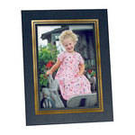 "Collector's Gallery Easel Picture Frame for 8 x 10"" Print  with Gold Border , Model PF5930-810"