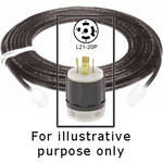 Strand Lighting Cable with L21-20P Plug -8'