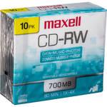 Maxell CD-RW 1-4x Rewritable Disc (10)