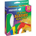 Maxell CD-401 C D/DVD Multi-color Paper Sleeves (Pack of 50)