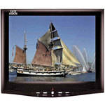 """Tote Vision LCD-1048HDL 10.4"""" Color Monitor with Flush Mount Kit"""