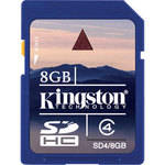 Kingston 8GB SDHC Memory Card Class 4