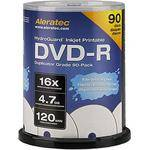 Aleratec DVD-R HydroGuard Inkjet Hub Printable Recordable Disc (Spindle Pack of 90)
