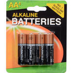 Duracell AA 1.5v Alkaline Coppertop Batteries (4 Pack)