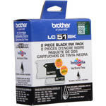 Brother LC-51 Black Ink Cartridges (2 Pack)