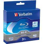 Verbatim BD-R 25GB 4X Branded 3pk Jewel Case