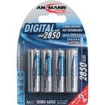 Ansmann AA Rechargeable NiMH Batteries (2850mAh, 4-Pack)