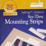 """Lineco See-Thru Polyester Mounting Strips (12"""", 60 Strips)"""
