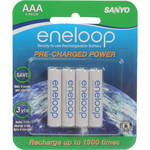 Sanyo Eneloop AAA Rechargeable Ni-MH Batteries (750mAh, Blister Pack of 4)