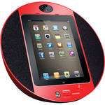 Pyle Pro iPod/iPhone/iPad Touch Screen Dock with FM Radio & Alarm (Red)