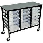 H. Wilson C123S18-CL Bin Workstation/Storage Unit
