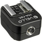 Vello Hot Shoe Adapter - Converts Sony Hot Shoe to Standard Hot Shoe + PC Socket
