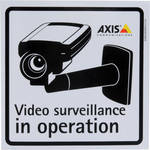 Axis Communications 5502-811 Surveillance Stickers (10-Pack)