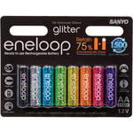 Sanyo eneloop glitter AA Rechargeable Ni-MH Batteries (8 Pack)