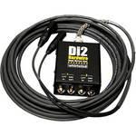 Whirlwind DI2-025-BK Di2 Hardwired Dual Direct Box with XLR Fanout (25', Black)