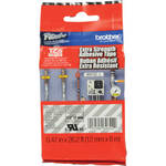 """Brother TZeS135 Tape with Extra-Strength Adhesive for P-Touch Labelers (White on Clear, 0.47"""" x 26.2')"""