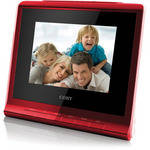 "Coby DP356 3.5"" Digital Photo Album with Alarm Clock (Red)"