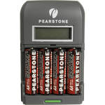 Pearstone AA Rechargeable Batteries with 4-Hour Rapid Charger (2300mAh, 4 Pack)