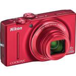 Nikon COOLPIX S8200 Digital Camera (Red)