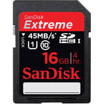 SanDisk 16GB Extreme UHS-I SDHC Memory Card (Class 10)