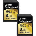 Lexar 8GB SDHC Memory Card Professional UHS-1 Class 10 - 2-Pack