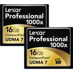 Lexar 16GB CompactFlash Memory Card Professional 1000x - 2-Pack