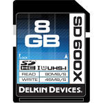 Delkin Devices 8GB SDHC Memory Card 600x UHS-I
