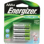 Energizer AAA NiMH Rechargeable Batteries (700mAh, 4 Pack)