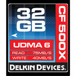 Delkin Devices 32GB CompactFlash Memory Card 500x UDMA