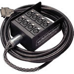 Whirlwind Studio DBB1-F-050 DB25 Male to 8 XLR Female Stage Box Cable