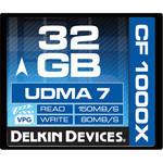 Delkin Devices 32GB CompactFlash 1000x UDMA Memory Card