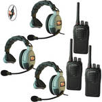 Eartec 3-User SC-1000 Two-Way Radio System with MAX3G Single Inline PTT