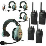 Eartec 4-User SC-1000 Two-Way Radio System with MAX3G Single Inline PTT