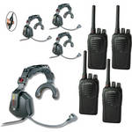 Eartec 4-User SC-1000 Two-Way Radio with Ultra Single Inline PTT Headsets