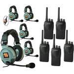Eartec 5-User SC-1000 Two-Way Radio System with MAX3G Double Inline PTT