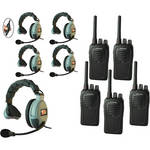 Eartec 5-User SC-1000 Two-Way Radio System with MAX3G Single Inline PTT