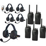 Eartec 5-User SC-1000 Two-Way Radio with XTreme Inline PTT Headsets