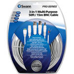Swann 3-in-1 Multi-Purpose 50' BNC Cable