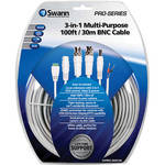 Swann 3-in-1 Multi-Purpose 100' BNC Cable