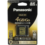Panasonic 4GB SDHC Memory Card Gold Series Class 10 UHS-I