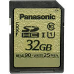 Panasonic 32GB SDHC Memory Card Gold Series Class 10 UHS-I